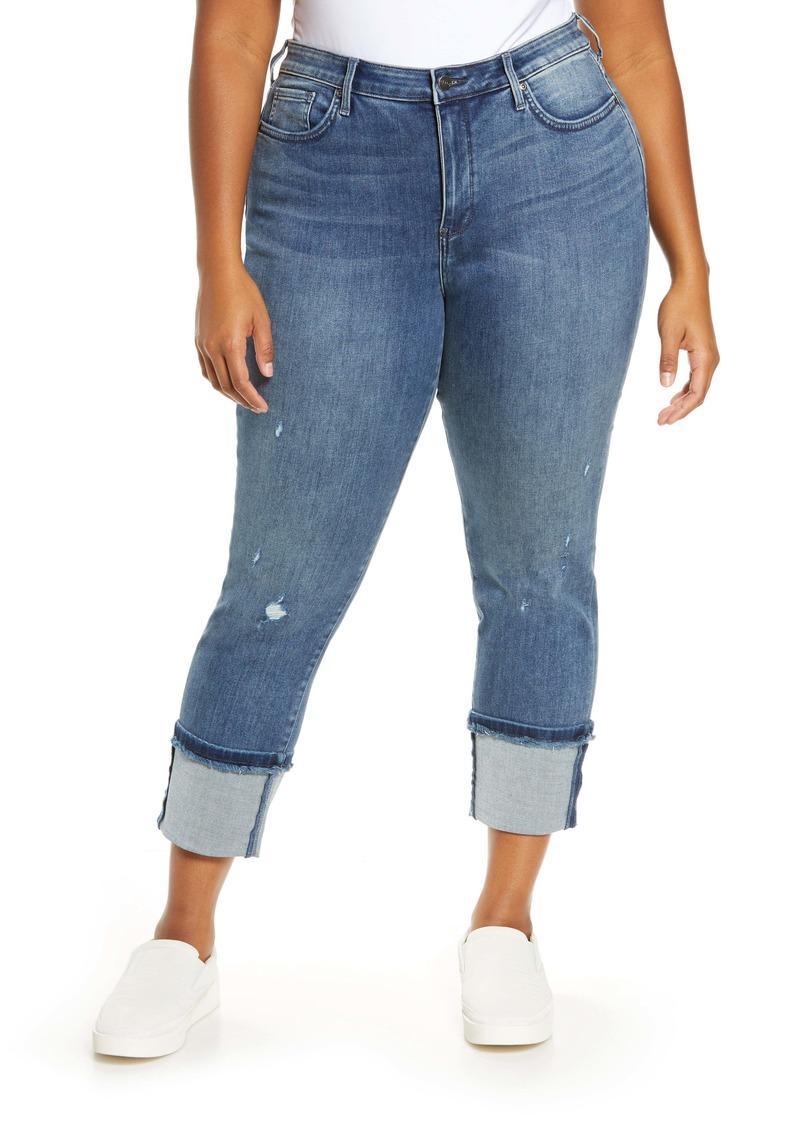 NYDJ Sheri Distressed Tall Cuff Ankle Jeans (Cherish) (Plus Size)