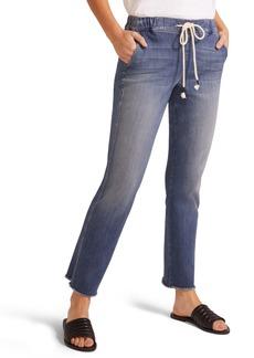 NYDJ Sheri Drawstring High Waist Fray Hem Ankle Slim Jeans (Myer)