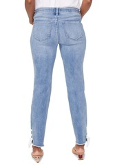 NYDJ Sheri High Waist Lace-Up Cuff Slim Ankle Jeans (Coheed)