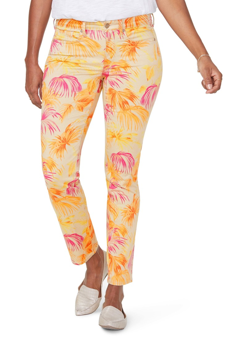 NYDJ Sheri High Waist Print Slim Ankle Jeans