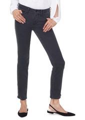 NYDJ Sheri High Waist Side Seam Slim Jeans (Black Side Stripe)