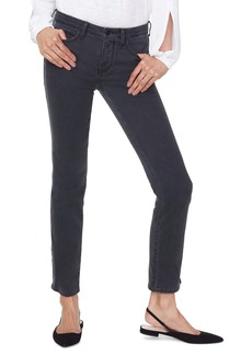 NYDJ Sheri High Waist Side Seam Slim Jeans (Black Side Stripe)