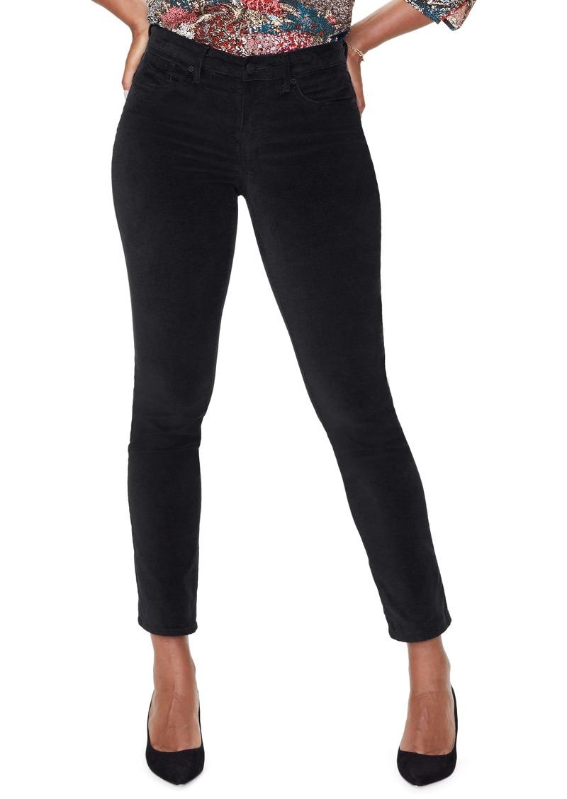 NYDJ Sheri High Waist Slim Cut Velvet Jeans