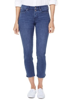 NYDJ Sheri Mock Fly Stretch Ankle Jeans