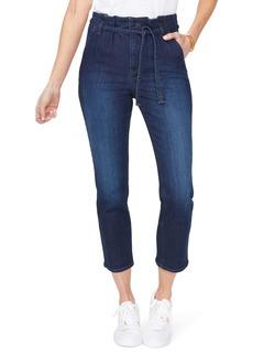 NYDJ Sheri Paperbag Waist Ankle Slim Jeans (Burbank)