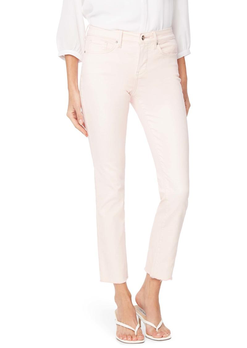 NYDJ Sheri Raw Hem Ankle Slim Jeans (Marisol Carnation) (Regular & Petite)