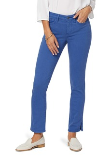 NYDJ Sheri Rivet Side Slit Slim Ankle Jeans