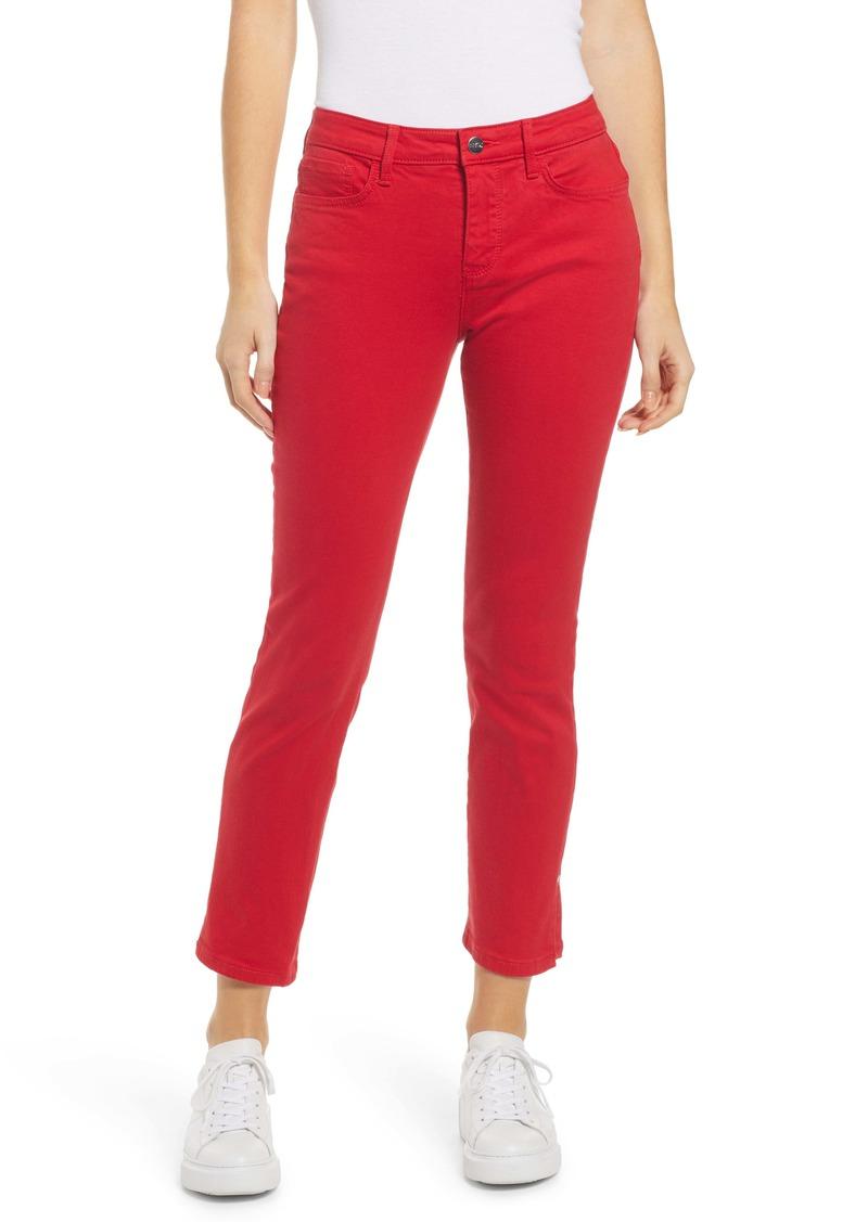 NYDJ Sheri Rivet Side Slit Slim Ankle Jeans