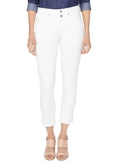 NYDJ Petites Sheri Cropped Slim Jeans in Optic White