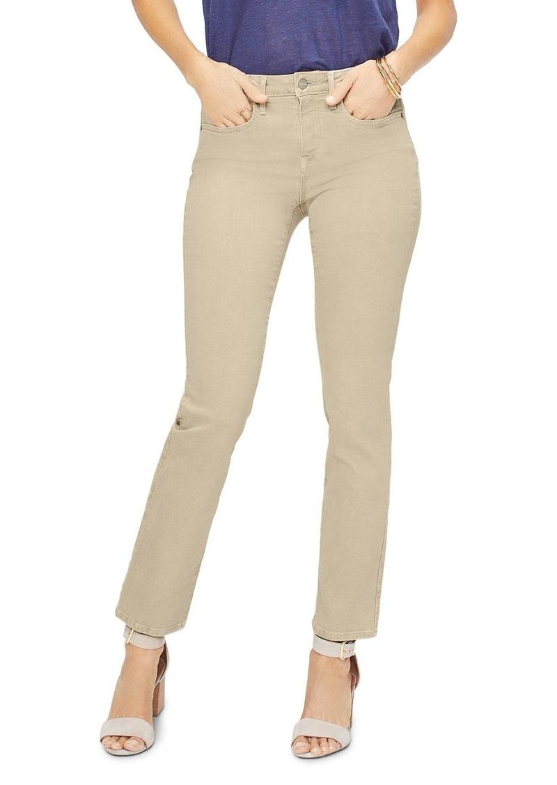 NYDJ Sheri Slim Jeans in Straw