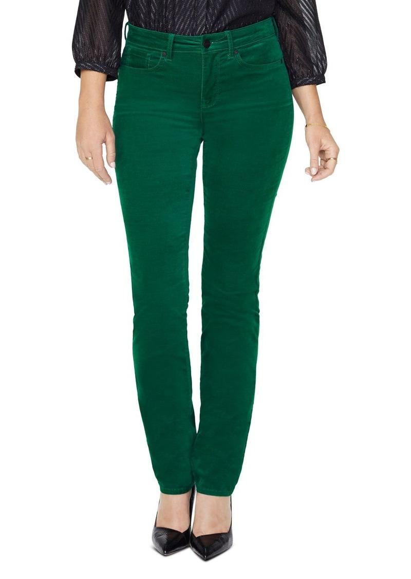 NYDJ Sheri Velvet Slim Jeans in Mountain Pine