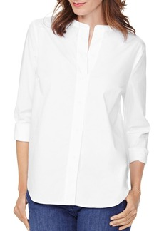 NYDJ Signature Button-Front Blouse