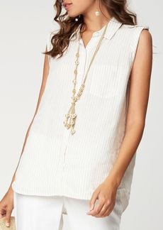 NYDJ Sleeveless Collared Shirt
