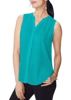 NYDJ Sleeveless Pintuck-Back Blouse