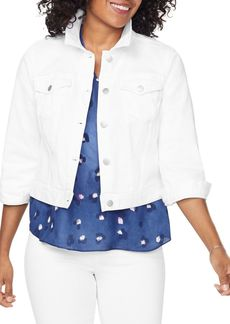 NYDJ Slim Trucker Jean Jacket in Optic White