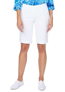 NYDJ Stretch Cotton Blend Twill Bermuda Shorts (Regular & Petite)