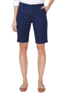 NYDJ Stretch Linen Blend Bermuda Shorts