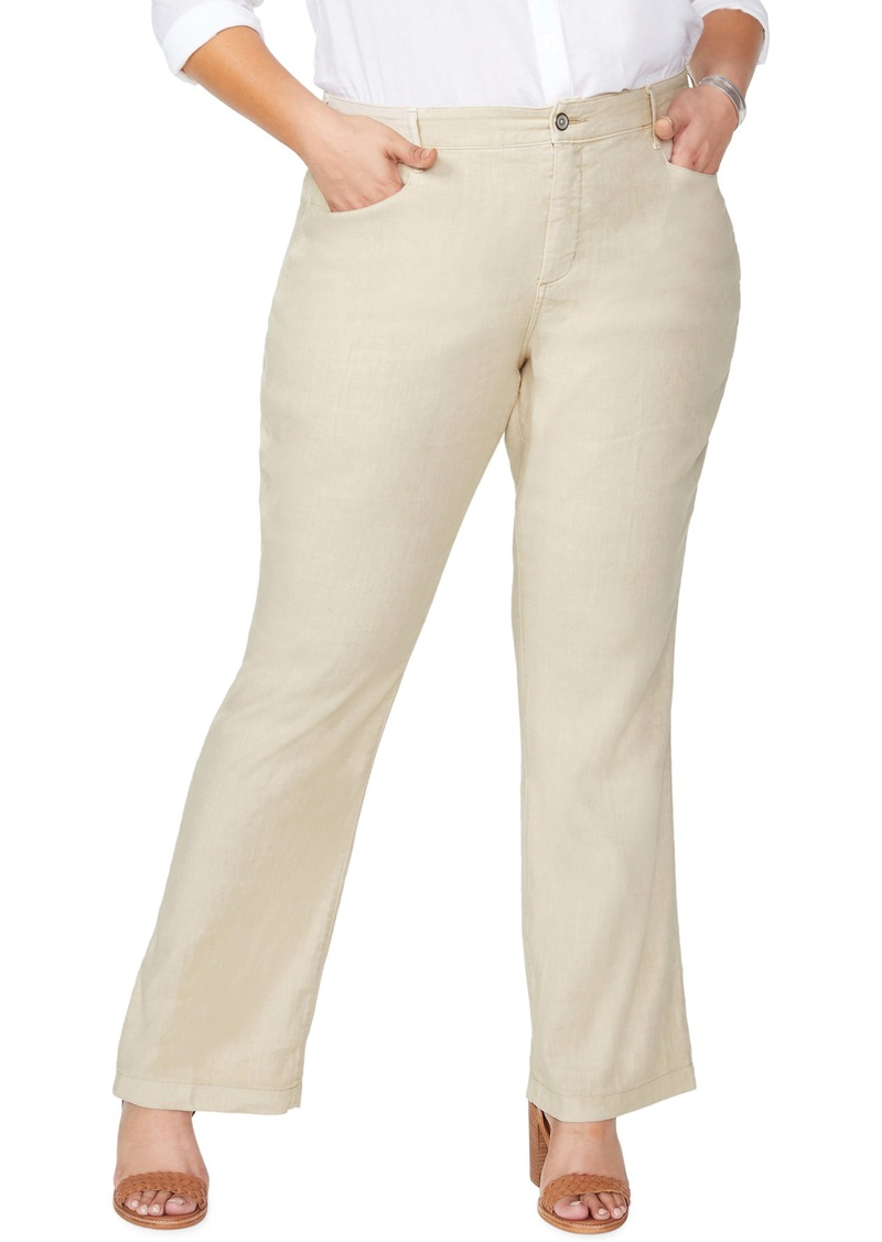 NYDJ Stretch Linen Blend Trousers (Plus Size)