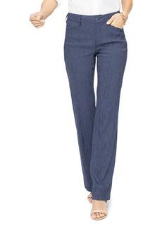 NYDJ Striped Straight-Leg Pants