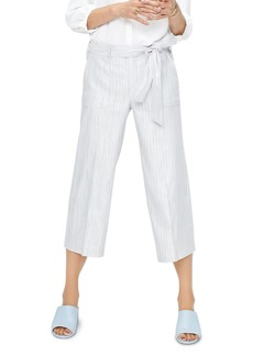 NYDJ Striped Wide-Leg Cropped Pants