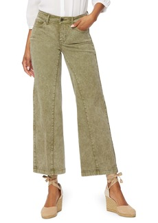 NYDJ Teresa Cropped Wide Leg Jeans (Marisol Moss) (Petite)