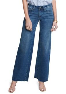 NYDJ Teresa Fray Hem Wide Leg Jeans (Regular & Petite)