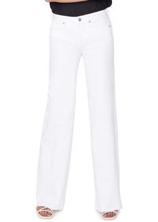 NYDJ Teresa High Waist Fray Hem Wide Leg Trouser Jeans