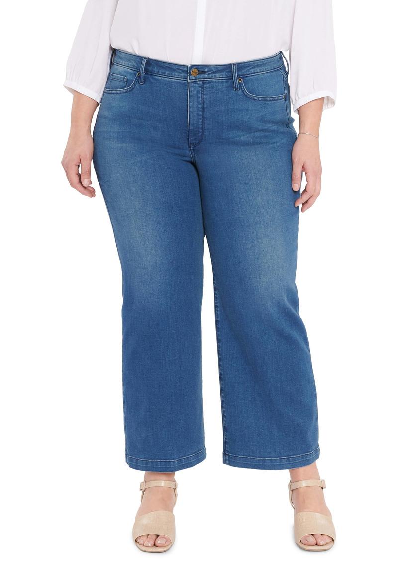 NYDJ Teresa Wide Leg Ankle Jeans (Med Market) (Plus Size)