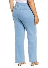 NYDJ Teresa Wide Leg Trouser Jeans (Belle Isle) (Plus Size)