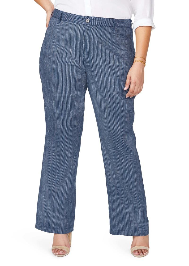 NYDJ The Trouser Linen Blend Pants (Plus Size)