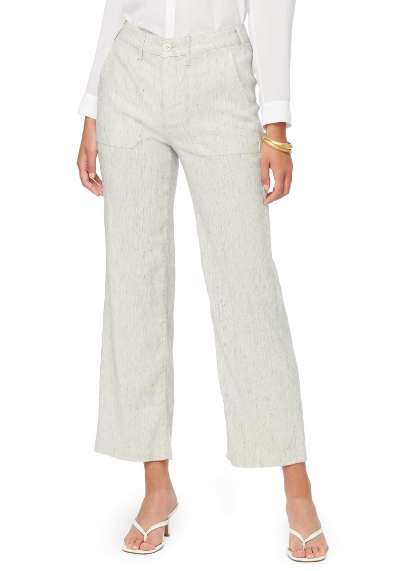 NYDJ The Trouser Slub Stripe Linen Blend Pants