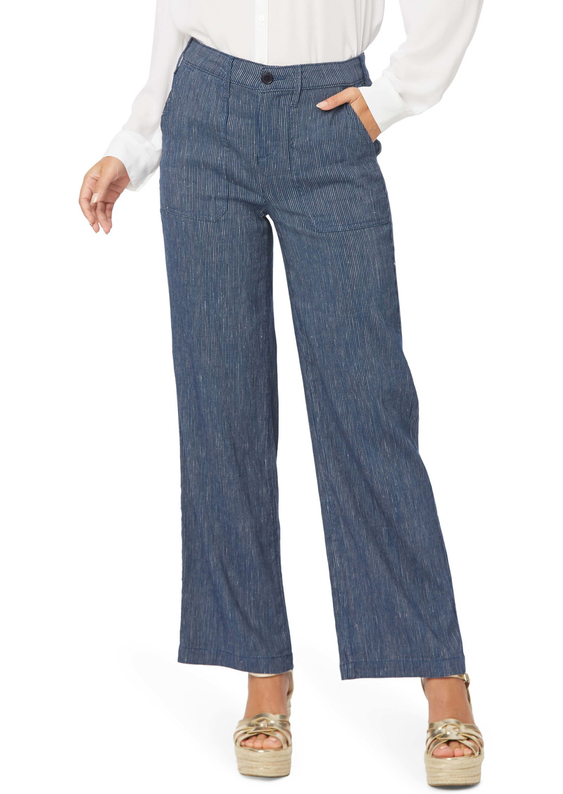 NYDJ The Trouser Stripe Linen Blend Pants