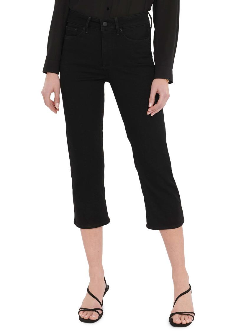 NYDJ ThighShaper Crop Jeans (Black Rinse) (Petite)
