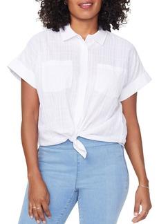 NYDJ Tonal Print Camp Shirt