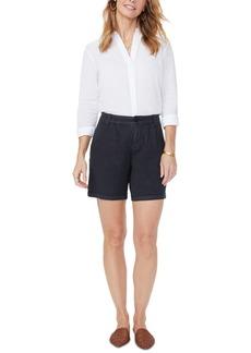Nydj Tummy-Control Pleated Relaxed Shorts