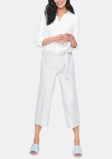 Nydj Tummy-Control Striped Cropped Cargo Pants
