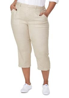 NYDJ Utility Crop Linen Blend Pants (Plus Size)
