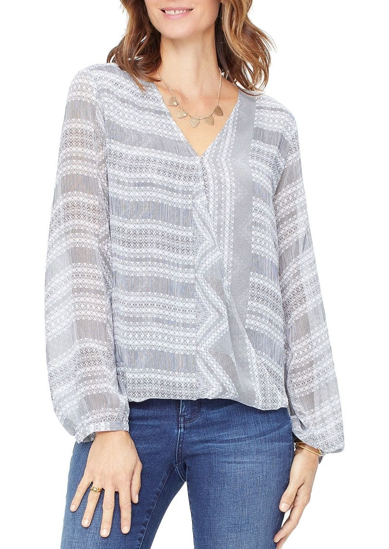 NYDJ V-Neck Crossover Top