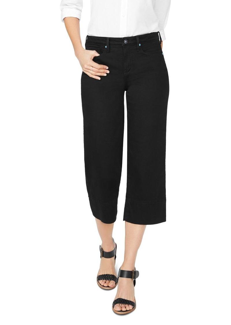 NYDJ Wide-Leg Capri Jeans in Black