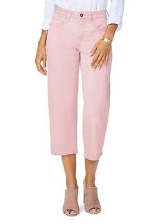 NYDJ Wide Leg Capri Jeans in Pueblo Rose