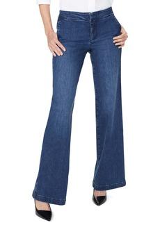 NYDJ Wide Leg Trouser Jeans (Clean Habana)