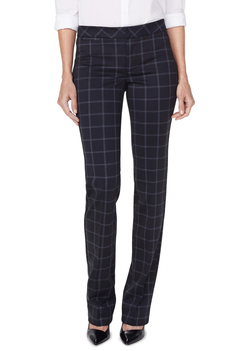 NYDJ Windowpane Check Slim Trousers