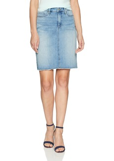 NYDJ Women's 5 Pocket Skirt with Fray Hem