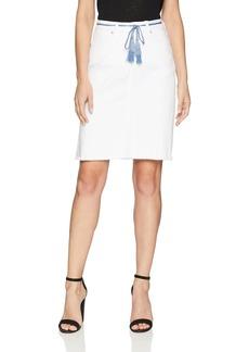 NYDJ Women's 5 Pocket Skirt with Tassle Belt