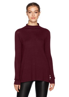 NYDJ Women's A-LINE Funnel Neck Sweater deep Currant M
