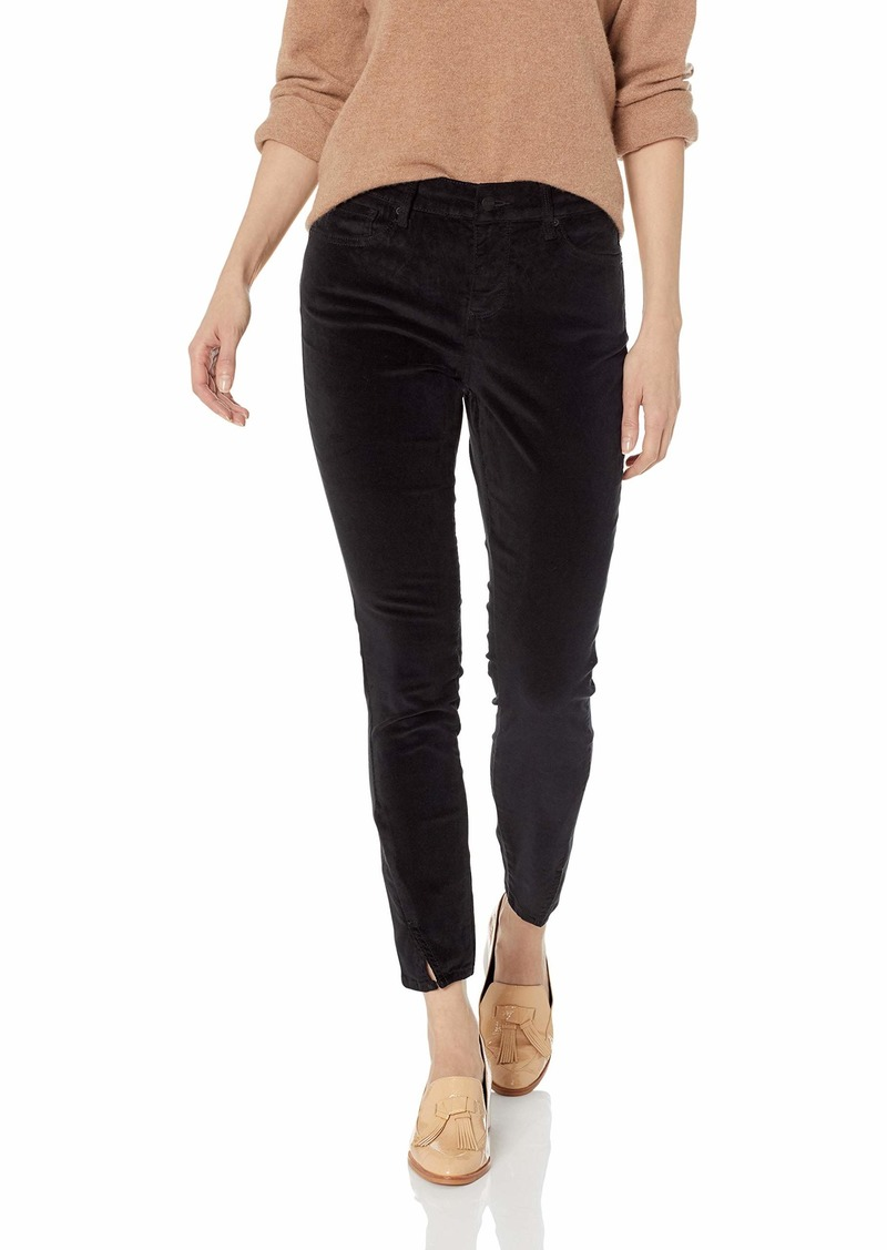 NYDJ Women's Ami Skinny Velvet-Legging with Twisted Sideseam Detail black