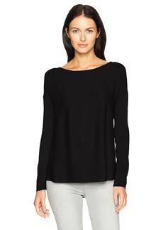 NYDJ Women's Boat Neck Sweater with Split Back  S