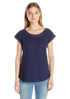 NYDJ Women's Crochet T-Shirt