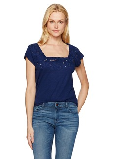 NYDJ Women's Cut Out Knit Tee