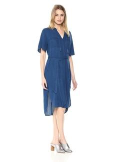 NYDJ Women's Drapey Indigo Dress Cambria WASH L